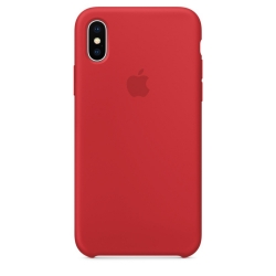Apple iPhone Xs Max Silicone Case - PRODUCT RED