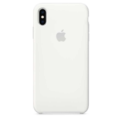 Apple iPhone Xs Max Silicone Case - White