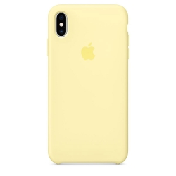 Apple iPhone Xs Max Silicone Case - Mellow Yellow