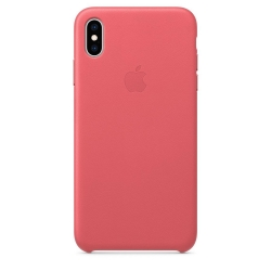 Apple iPhone Xs Max Leather Case - Peony Pink