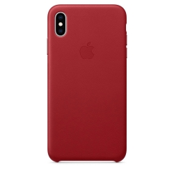 Apple iPhone Xs Max Leather Case - PRODUCT RED