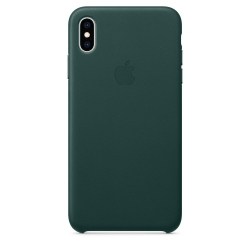 Apple iPhone Xs Max Leather Case - Forest Green