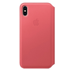 Apple iPhone Xs Max Leather Folio - Peony Pink