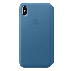 Apple iPhone Xs Max Leather Folio - Cape Cod Blue