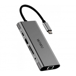WIWU Adapter Apollo A931HRT 9 in 1 USB-C HUB Gray (6957815507252)