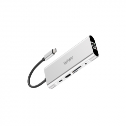WIWU Adapter Apollo A931HRT Silver 9 in 1 USB-C (6957815507269)