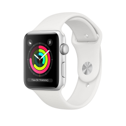 Apple Watch Series 3 (GPS) 38mm Silver Aluminum Case with White Sport Band (MTEY2)