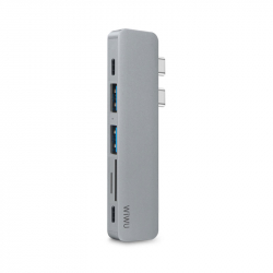 WIWU T8 7 in 1 USB Type-C Hub Gray