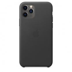 Apple iPhone 11 Pro Leather Case - Black (MWYE2)