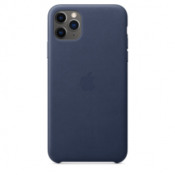 Apple iPhone 11 Pro Max Leather Case - Midnight Blue (MX0G2)