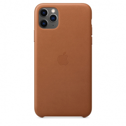 Apple iPhone 11 Pro Max Leather Case - Saddle Brown (MX0D2)