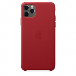 Apple iPhone 11 Pro Max Leather Case - PRODUCT RED (MX0F2)