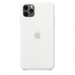 Apple iPhone 11 Pro Max Silicone Case - White (MWYX2)