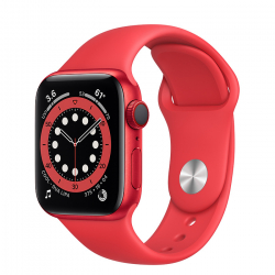 Apple Watch Series 6 GPS + Cellular 40mm (PRODUCT)RED Aluminum Case with (PRODUCT)RED Sport Band ()