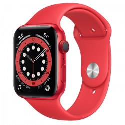 Apple Watch Series 6 GPS + Cellular 44mm (PRODUCT)RED Aluminum Case with (PRODUCT)RED Sport Band ()