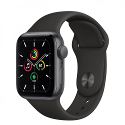 Apple Watch Series SE GPS 40mm Space Gray Aluminum Case with Black Sport Band (MYDP2)