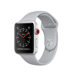 Apple Watch Series 3 (GPS + Cellular) 38mm Silver Aluminum Case with Fog Sport Band (MQJN2, MQKF2)