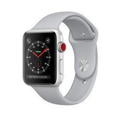 Apple Watch Series 3 (GPS + Cellular) 42mm Silver Aluminum Case with Fog Sport Band (MQK12)
