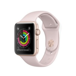 Apple Watch Series 3 (GPS) 38mm Gold Aluminum Case with Pink Sand Sport Band (MQKW2)