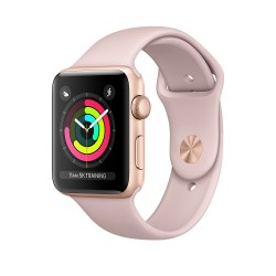 Apple Watch Series 3 (GPS) 42mm Gold Aluminum Case with Pink Sand Sport Band (MQL22)