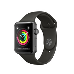 Apple Watch Series 3 (GPS) 38mm Space Gray Aluminum Case with Black Sport Band (MQKV2)
