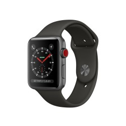 Apple Watch Series 3 (GPS + Cellular) 42mm Space Gray Aluminum Case with Black Sport Band (MQK22, MQKN2)