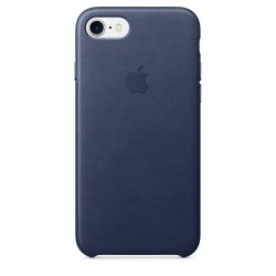 Apple iPhone 7/8 Leather Case - Midnight Blue